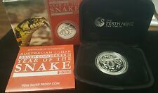 Low Priced 2013 Year of the Snake Australian Lunar Silver Proof Coin Series II 12 oz