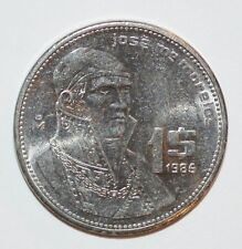 Buy 1985 1 PESO un MEXICO world foreign snake coin UNCIRCULATED with Paypal