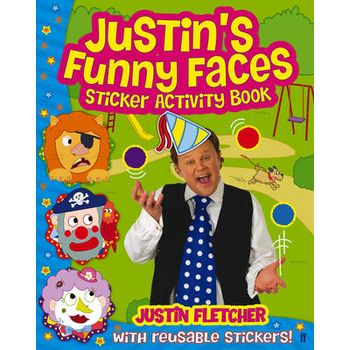 JUSTINS FUNNY FACES STICKER ACTIVITY BO