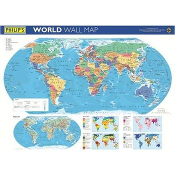 PHILIPS WORLD WALL MAP