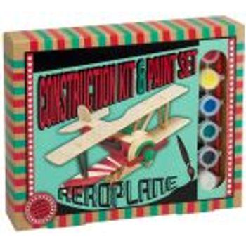 Ξύλινη κατασκευή Aeroplane Construction Kit & Paint Set