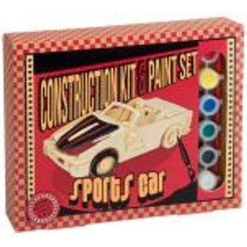 Ξύλινη Κατασκευή Sports Car Construction Kit & Paint Set