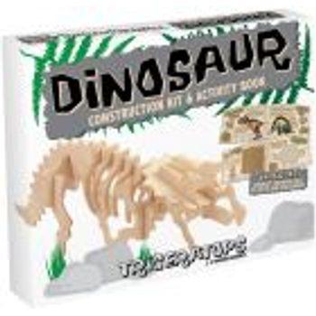 Ξύλινη κατασκευή Dinosaur Construction Kit Triceratops με βιβλίο
