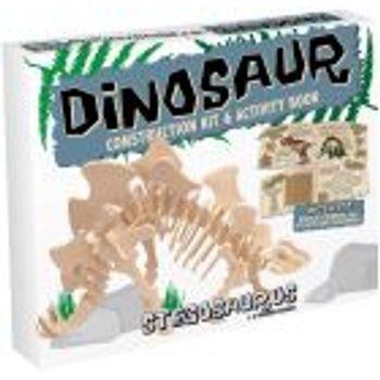 Ξύλινη κατασκευή Dinosaur Construction Kit Stegosaurus με βιβλίο
