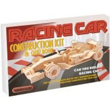 Σετ Racing Car Ξύλινη Κατασκευή και Quiz Book