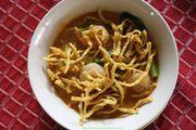 [泰国清迈美食]在融入荷兰风情的Garden吃泰北金麺