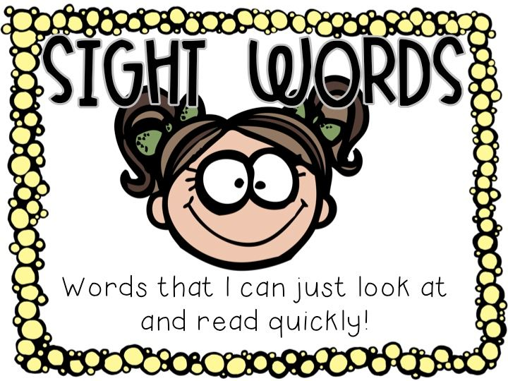 Image result for sight words images