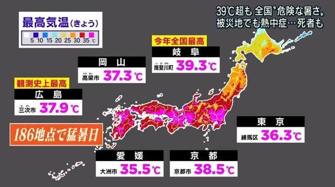 史上高溫 熱浪吹襲日本各地 高見40度 出外時需注意