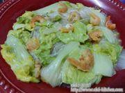 蝦米粉絲煮紹菜