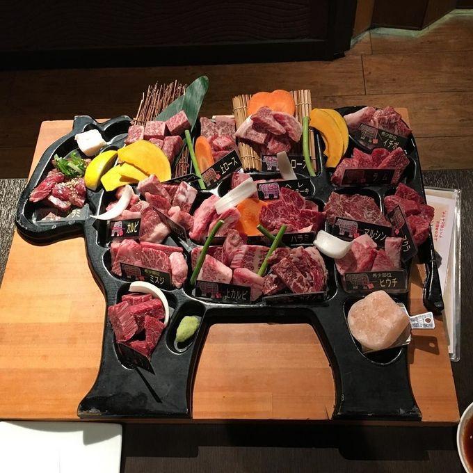 食在大阪 美味 和牛 燒肉 一次就能品嚐全隻和牛既不同部位 價錢抵食質素高! 平野焼肉 うし田