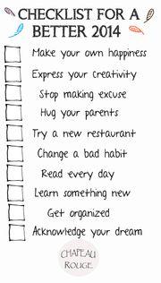 新一年,十件事:一張讓2014過得更精彩的清單。