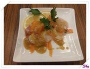 特級黑松露芝士火鍋配意式鮭魚帆立貝拼盤 @ Gochiso