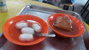 食在台北 淡水老街 正宗阿給老店 魚丸湯 甜辣醬 淡水 阿給 小吃
