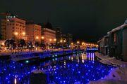 夢幻燈飾亮燈了 以無數的LED燈點綴小樽運河之美 札幌白色燈樹節 五稜星之...