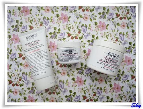 保濕產品不可缺少 - Kiehl's 特效保濕潔面啫喱, 特效保濕乳霜和特效晚間保濕面膜