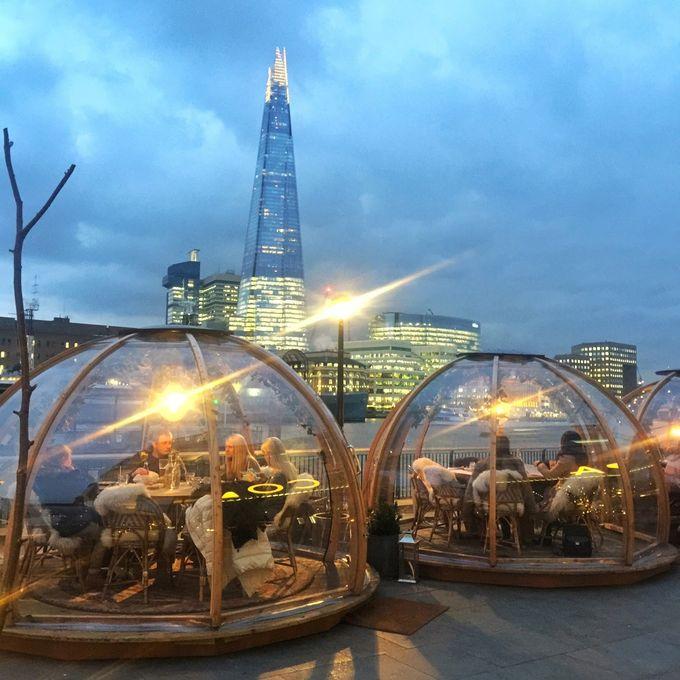 JOICY遊   英國倫敦   玩樂美食推介   COPPA CLUB   夢幻玻璃屋內進餐
