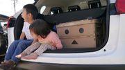 【好家品】阿楞化身摺合式收納膠箱 日本限定版 紙箱人