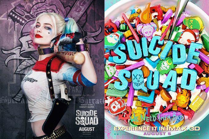 【超過22張】《Suicide Squad》最新海報,穀物早餐有關連?