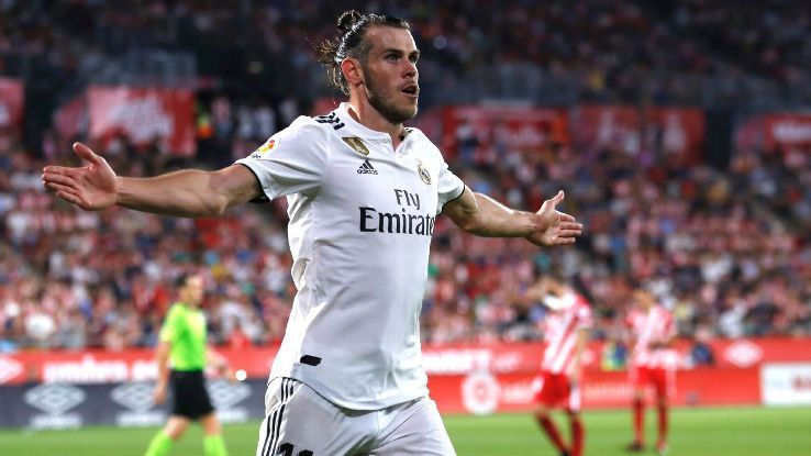 Gareth Bale is no longer angry. Instead, he's leading Real Madrid forwardの代表サムネイル