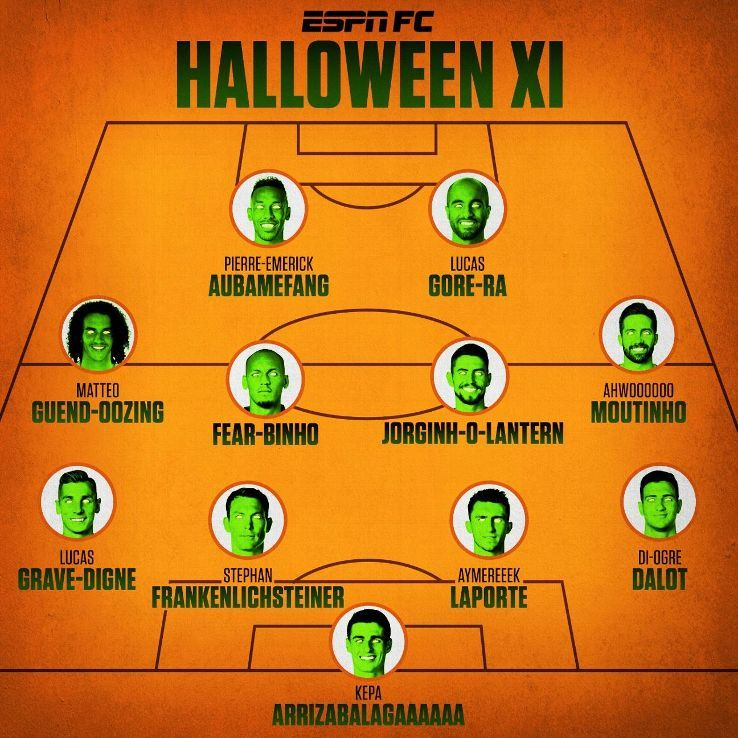 ESPN FC's Halloween XI: Spooky selection of Premier League starsの代表サムネイル