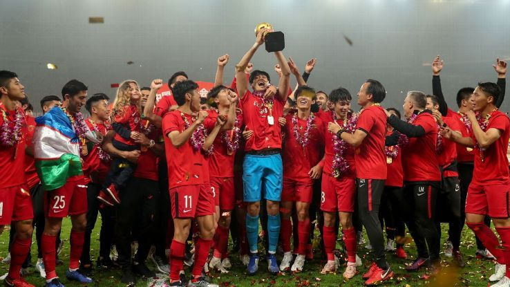 Shanghai SIPG win Chinese Super League to end Guangzhou Evergrande dominanceの代表サムネイル