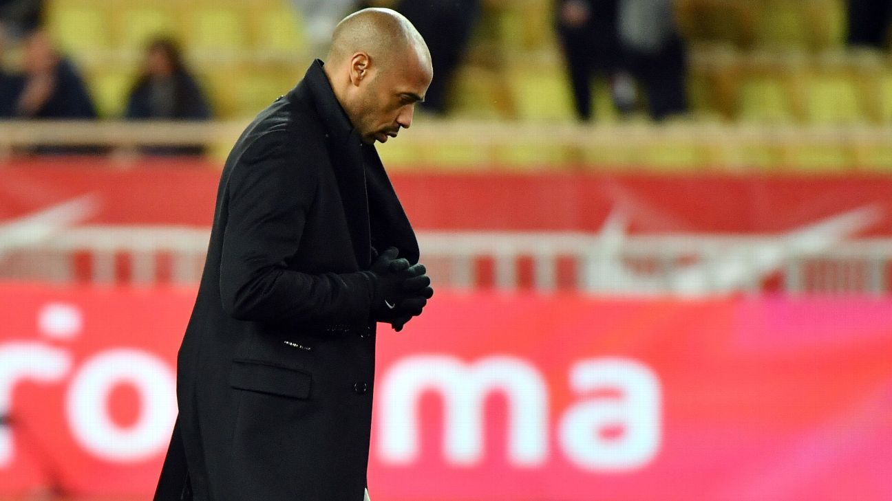 Monaco sack Thierry Henry with club mired in relegation zone - sourcesの代表サムネイル