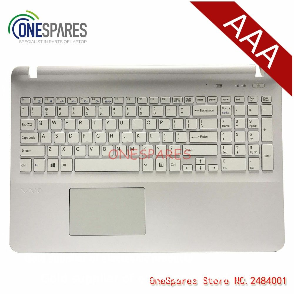 NEW Original For Sony SVF15 FIT15 SVF151 SVF152 SVF153 SVF1541 SVF15E Laptop Palmrest Touchpad Cover  White Keyboard with Frame