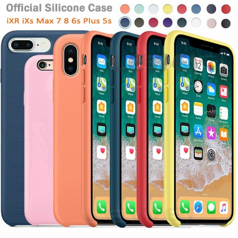 Original LOGO Silicone Case For iPhone XR X XS Max Case For Apple iPhone 7 8 Plus 6 6S Cases For iPhone 11 Pro Max Official Box