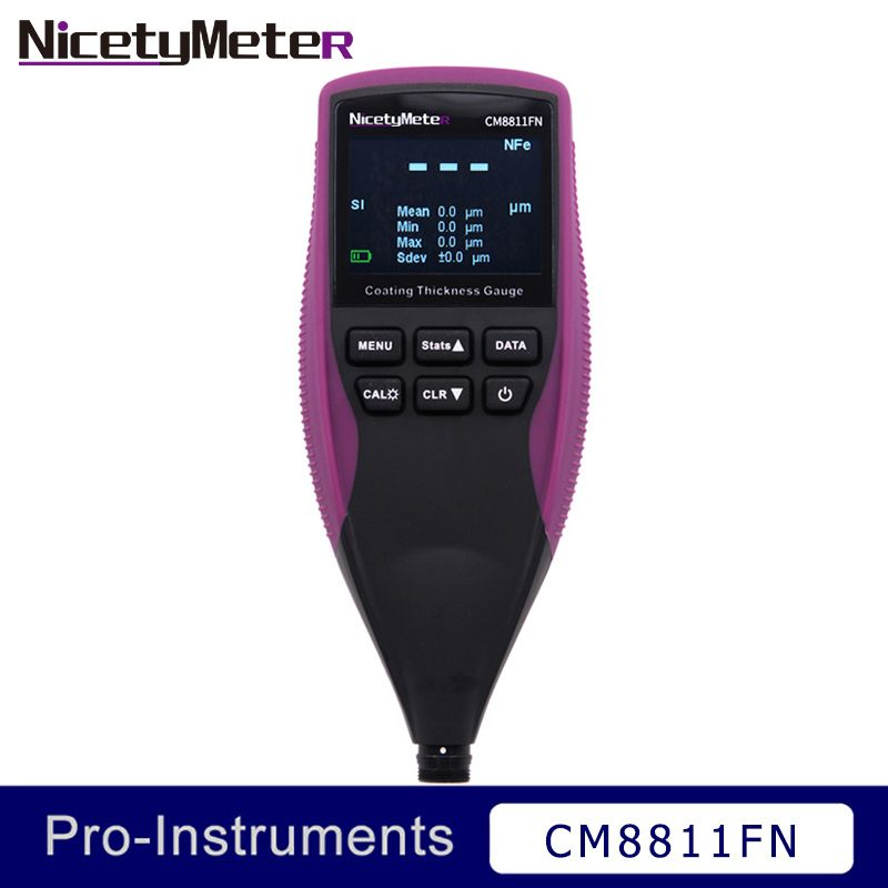 Nicety CM8811FN Car Paint Thickness Gauge Coating Thickness Meter Paint Gauge Film Meter Thickness Measurement Removable Probe