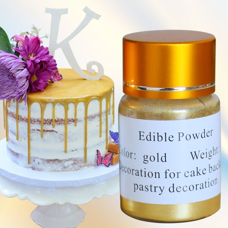 Edible Gold Powder Cake Decoration Pigment Edible Glitter Food Coloring for Baking Fondant Chocolate Arts Edible Food Dust 10g
