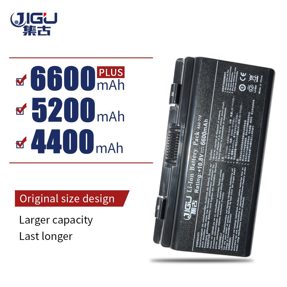 JIGU 6 Cells Battery Replacement For ASUS X51H X51L X51R X51RL T12 T12C T12Er T12Fg T12Jg T12Mg T12Ug A32 X51