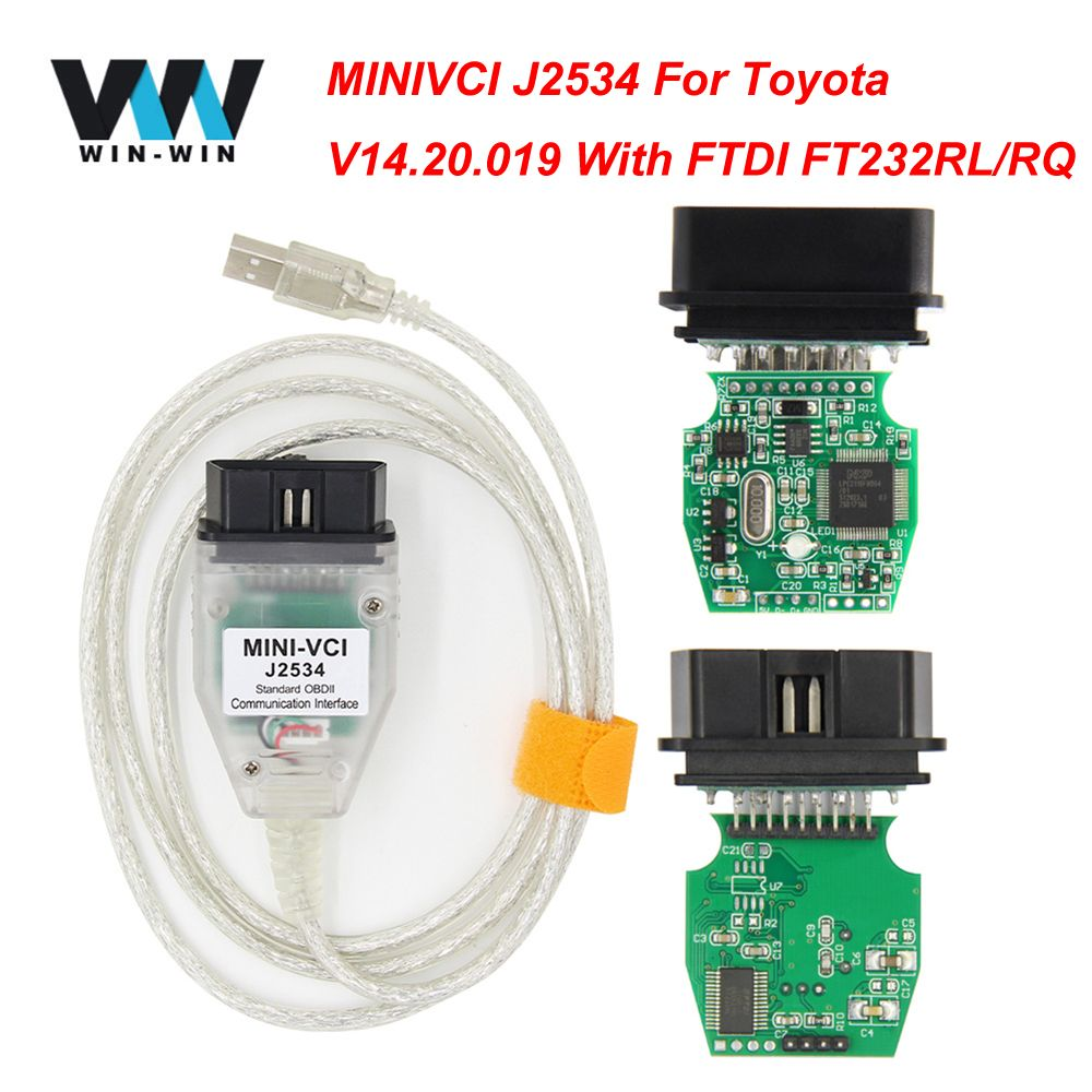 V14.20.019 For Toyota MINI VCI J2534 With FTDI FT232RL OBD OBD2 Car Diagnostic Tool Auto Scanner Cable TIS Techstream minivci