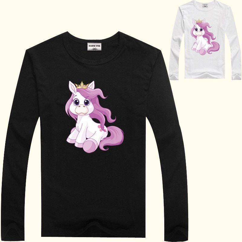 DMDM PIG Children's T-Shirts For Baby Girls Tops Tees Toddler Boys Clothing Long Sleeve T Shirt Kids Clothes 2 3 4 Years TShirts