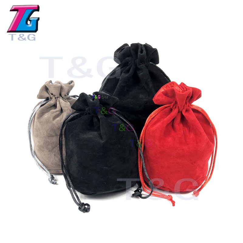 TOP Quality Dice bag Jewelry Packing  Velvet Drawstring  Pouches for packing gift 2 type 3 colors Board Game