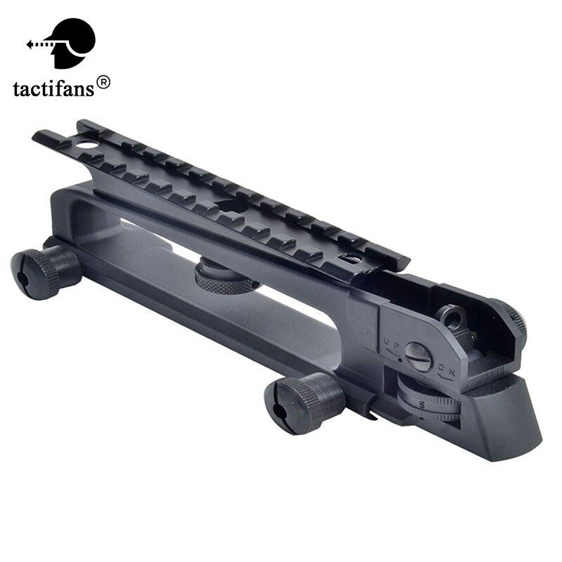 Detachable Carry Handle and Rear sight W/ See through Picatinny Rail Mount Combo M4 M16 AR15