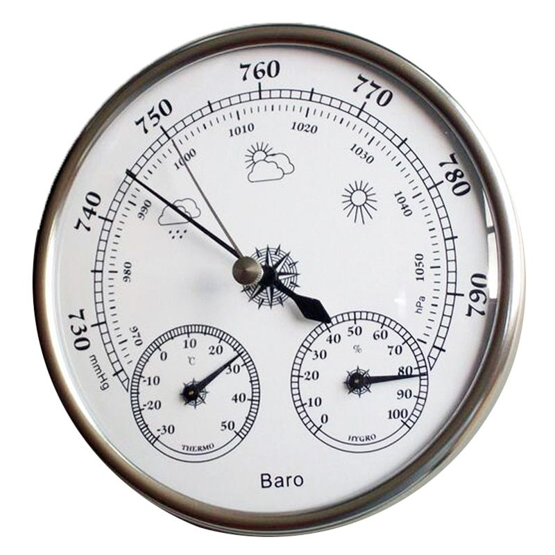 Hotsale High Accuracy Household 128mm Weather Station Barometer Thermometer Hygrometer Wall Hanging Tester Tool