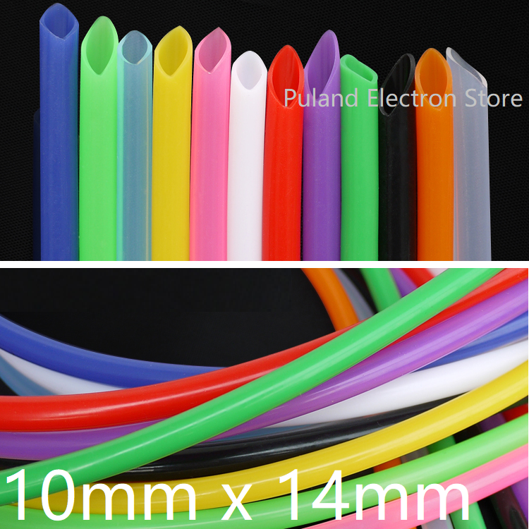 Silicone Tube ID 10mm x 14mm OD Flexible Rubber Hose Thickness 2mm Food Grade Soft Milk Beer Drink Pipe Water Connector Colorful