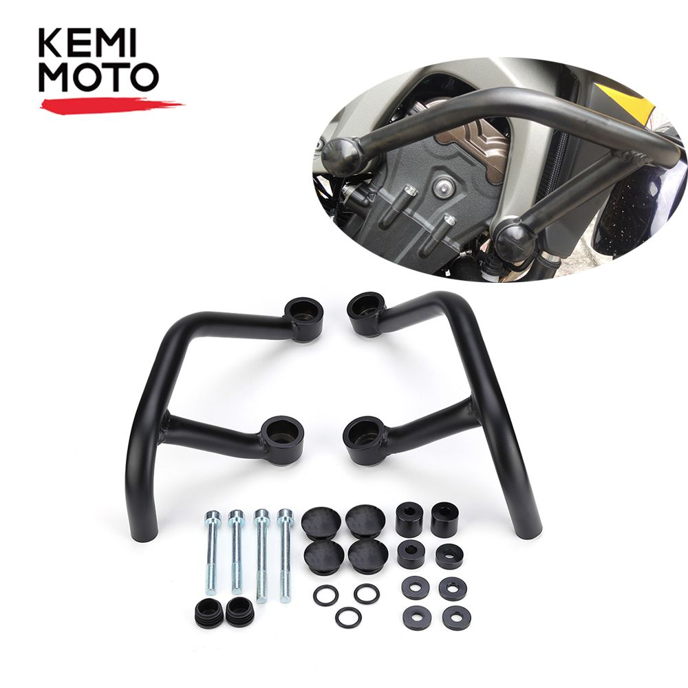 KEMiMOTO Motorcycle Accessories For YAMAHA MT-09 FZ 09 MT09 2017 Front Engine Guard Crash Bars Motorbike Parts MT 09 2013-2017