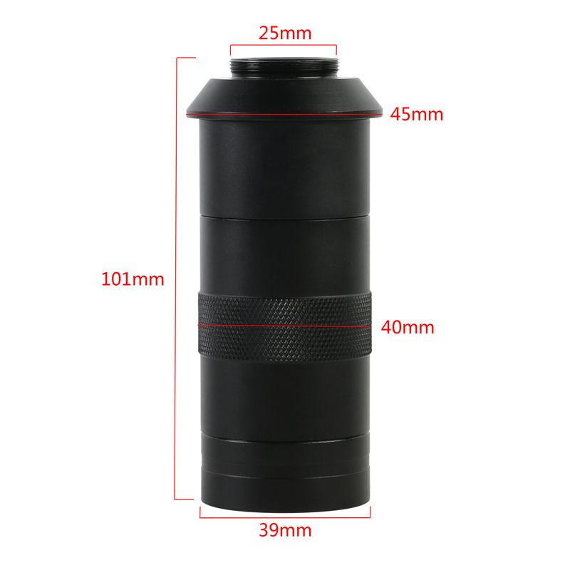 Adjustable Magnification 130X Zoom C Mount Lens For HDMI VGA USB Industry Video Microscope Camera Can work over 15CM