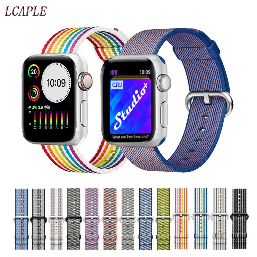 Sport woven nylon strap for apple watch 4 band 44 mm iwatch band 42mm 40mm correa 38 mm bracelet watchband for apple watch 5 4 3