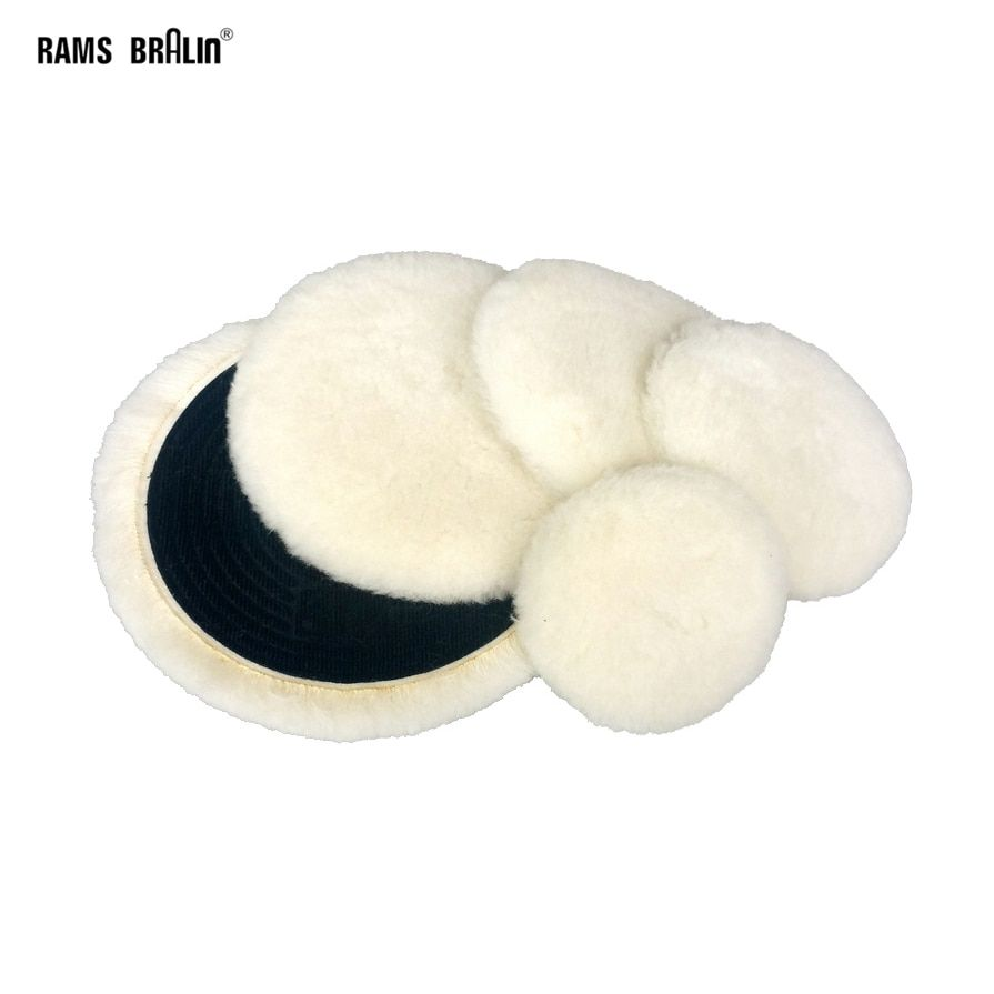 "1 piece 3"" -5"" Premium Quality Knit Buffing Pad Self-adhesive Wool Polishing Wheel Car Motorcycle Paint Care"
