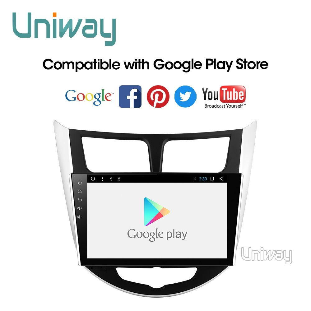 Uniway ARN9071 2 din android 9.0 car dvd for hyundai solaris accent verna 2011 2013 2014 2015 car radio gps navigation stereo