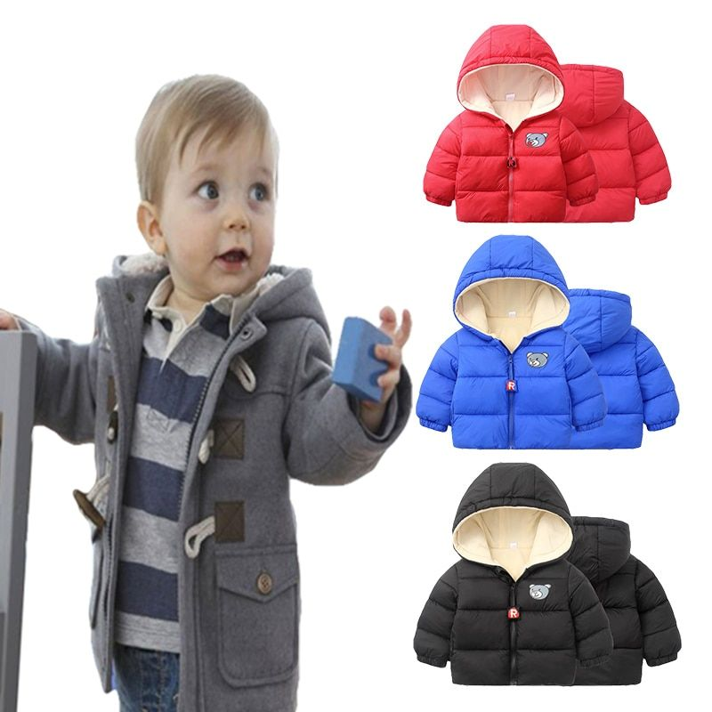 Baby Boys Children outerwear coat fashion kids jackets for Boy girls Winter jacket Warm hooded children clothing