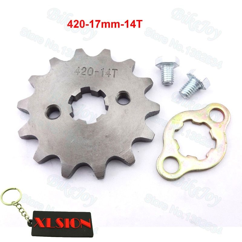 420 14 T Tooth 17mm ID Front Engine Sprocket for 50cc 70cc 110cc Dirt Pit Bike ATV Quad Go Kart Motor Moped Scooter Motorcycle