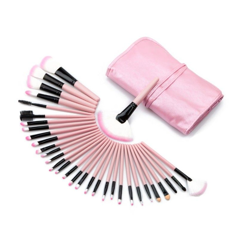 Professional 32 Pcs Makeup Brushes Bag Set Kits Make Up MULTIPURPOSE Cosmetics Lipstick Eyeshadow Powder Brushs Bags #