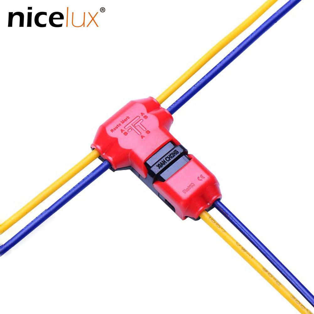 10pcs 2pin DC/AC 300V 10A Wire Connector 18-22AWG no welding scotch lock Quick Connector cable clamp Terminal Block