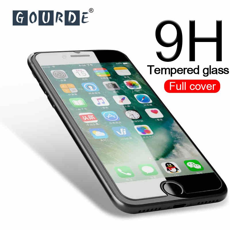 Gourde 9H Tempered Glass for iPhone 11Pro Max Premium Screen Protector for iPhone 8 7 6s Plus Glass Film for iphone XS Max XR X