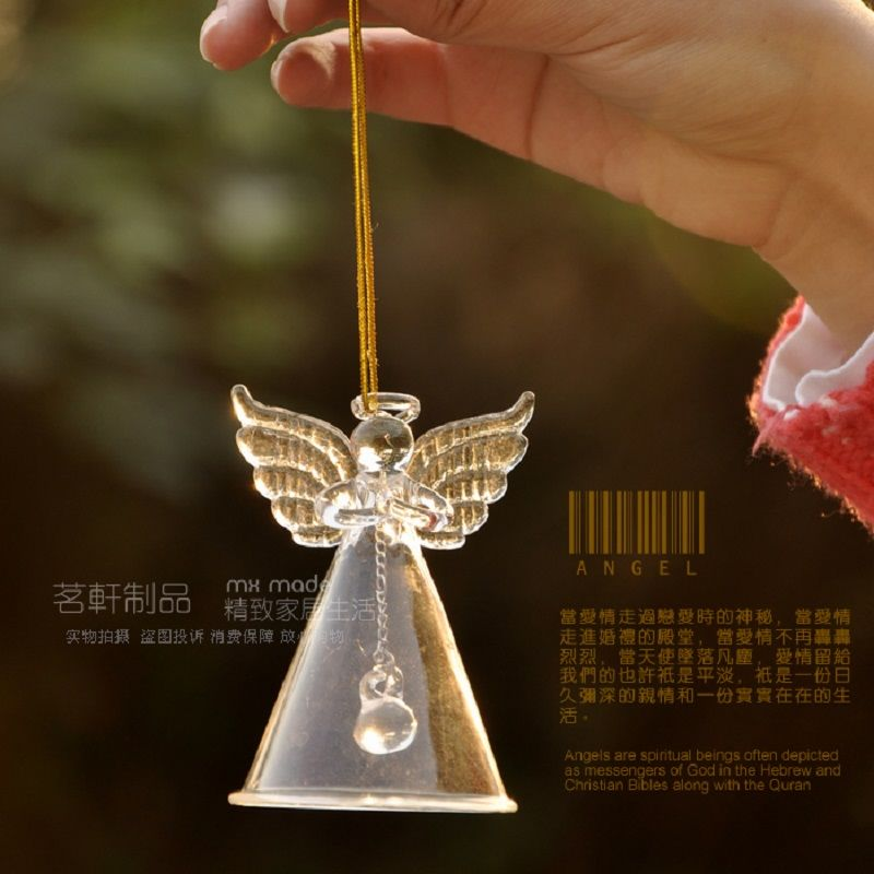 O.RoseLif Praying Angel  Blessing Happy Wedding Decor Supplies Frozen Party Home Decoration Married Clear Wind Chime