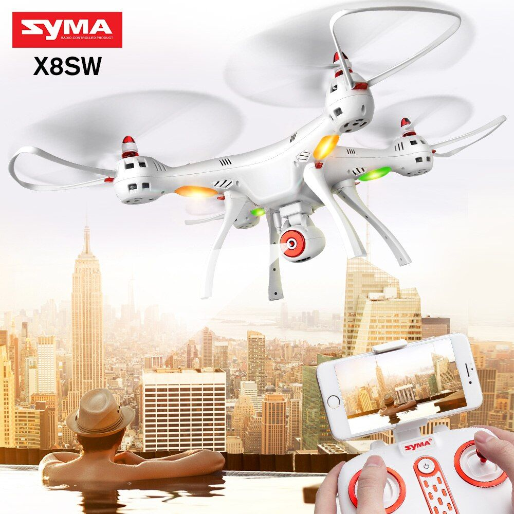 SYMA authentic X8SW quadcopter HD camera FPV wifi real time drone comes with upgrated 7.4V  battery -X8SC (HD camera, no wifi)