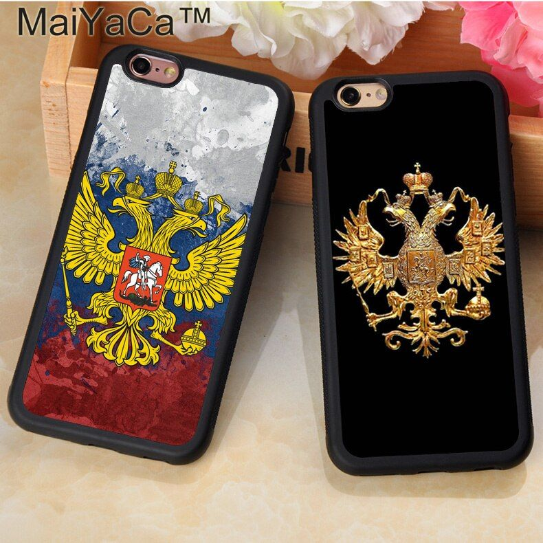 MaiYaCa Russian Flag coat of arms Logo Rubber Phone Case For iphone 11 Pro MAX X XR XS MAX 6 6S 7 8 Plus 5 5S TPU Cover